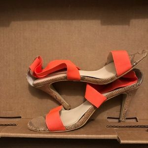 Victoria's secret neon orange sandals 6.5